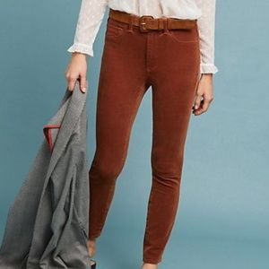 Pilcro Corduroy High-Rise Skinny Ankle Jeans